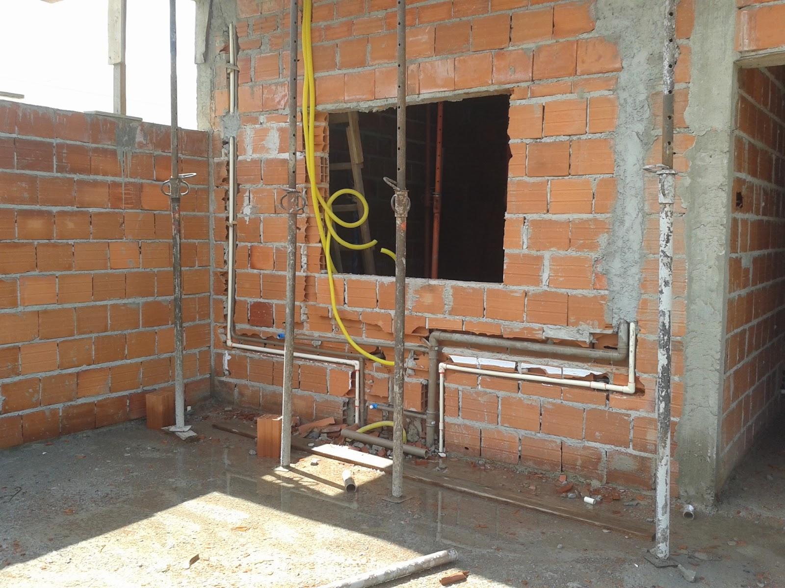 A Construção de Rody e Fábio 202122a Semanas  Platibandarebocoinício te -> Encanamento De Banheiro Com Banheira
