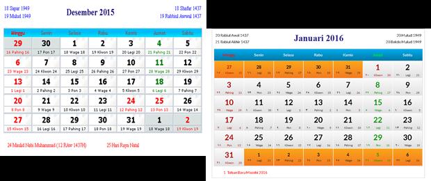 kalender 2015 2016