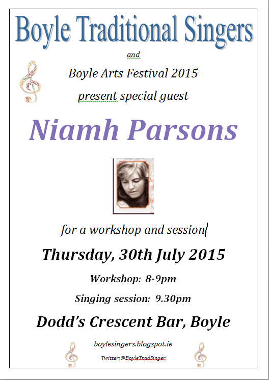 Niamh Parsons 2015 July 30 Poster