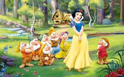 Disney animated movie Snow white and Seven Dwarfs