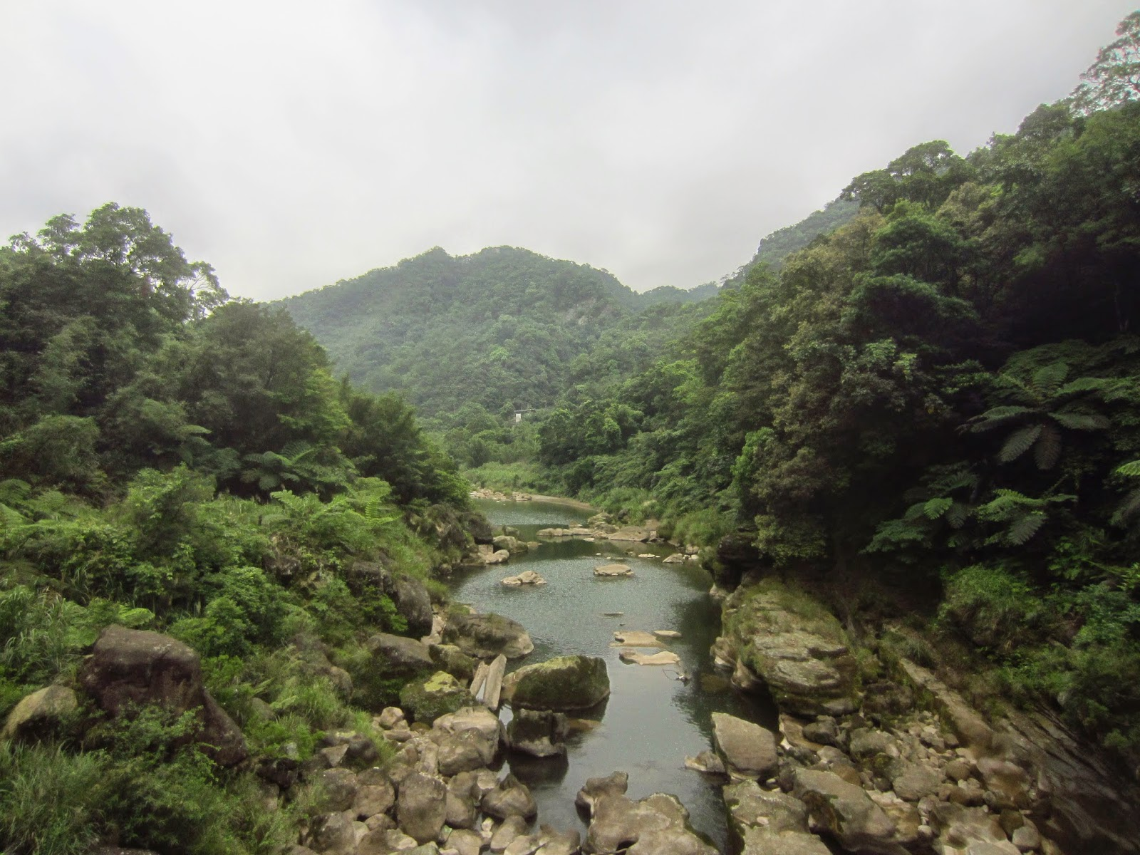 A part of the main river at Sandiaoling, Taiwan.