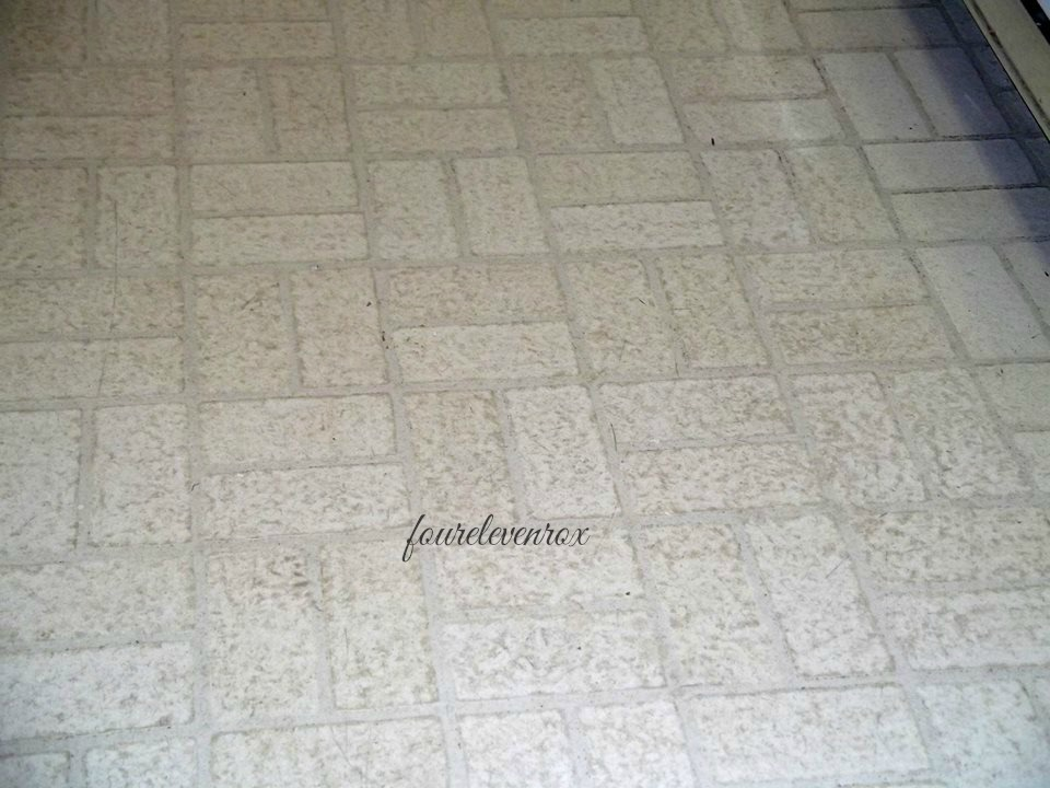 Four Eleven Rox Cleaning Old ScratchedUp Linoleum Floors - Best product to clean linoleum floors