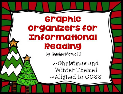 http://www.teacherspayteachers.com/Product/Graphic-Organizers-for-Informational-Reading-Christmas-and-Winter-Theme-988485
