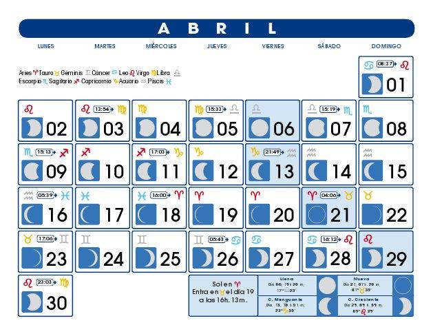 Calendario 2016 Con Fases Lunares   newhairstylesformen2014.com