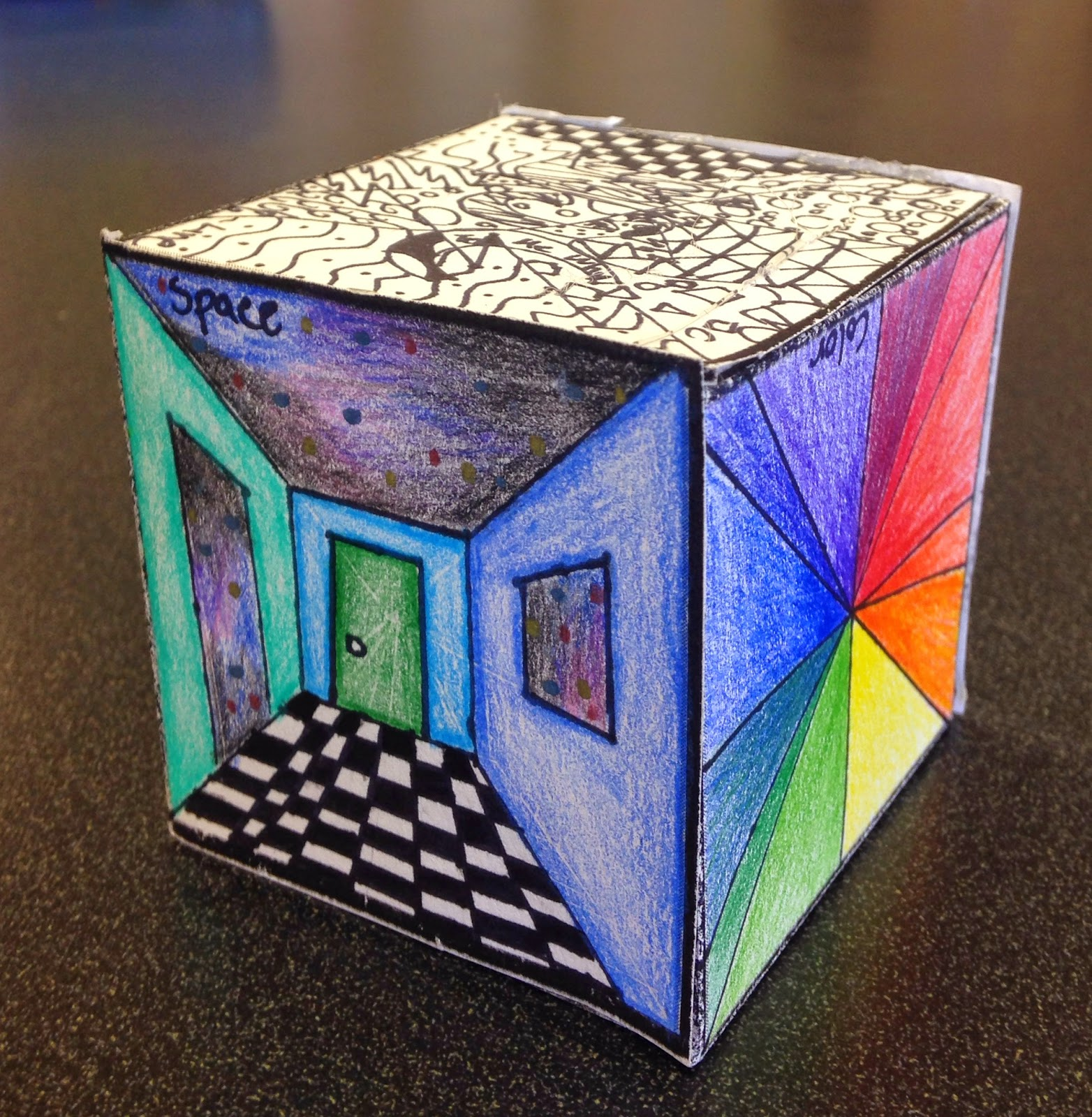How Many Elements Of Art Are There : Sylvandale middle school art class elements cube