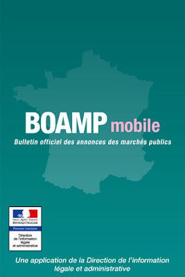 écran accueil BOAMP mobile