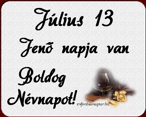 Július 13 - Jenő névnap