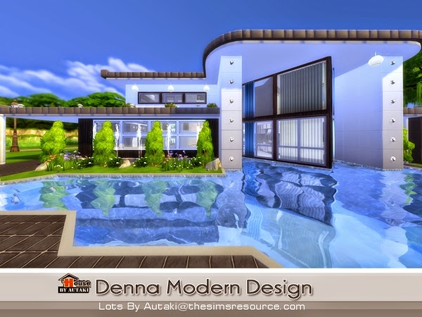 Casa moderna denna the sims 4 pirralho do game for Casas modernas sims 4 paso a paso
