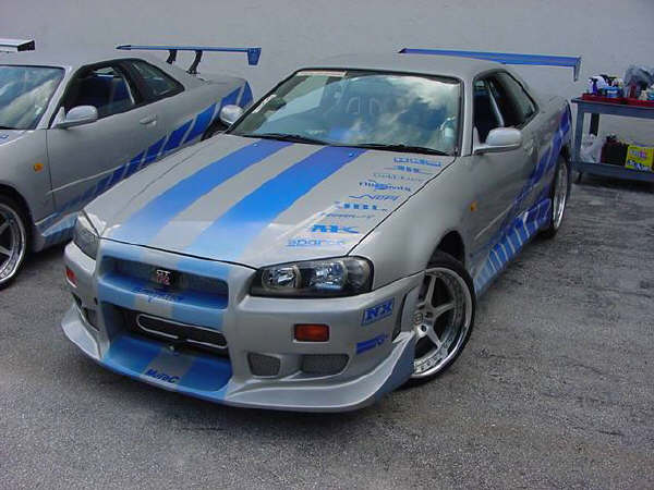 The blue nx on fast furious cars