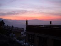 sunrise view from Kopan Monastery