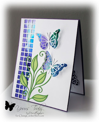 Diana Nguyen, Memory Box, butterfly, Impression Obsession, Square Cutout