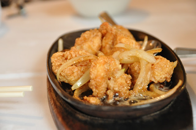 Eat and Drink Artillery Passage review fried king prawns with butter and garlic