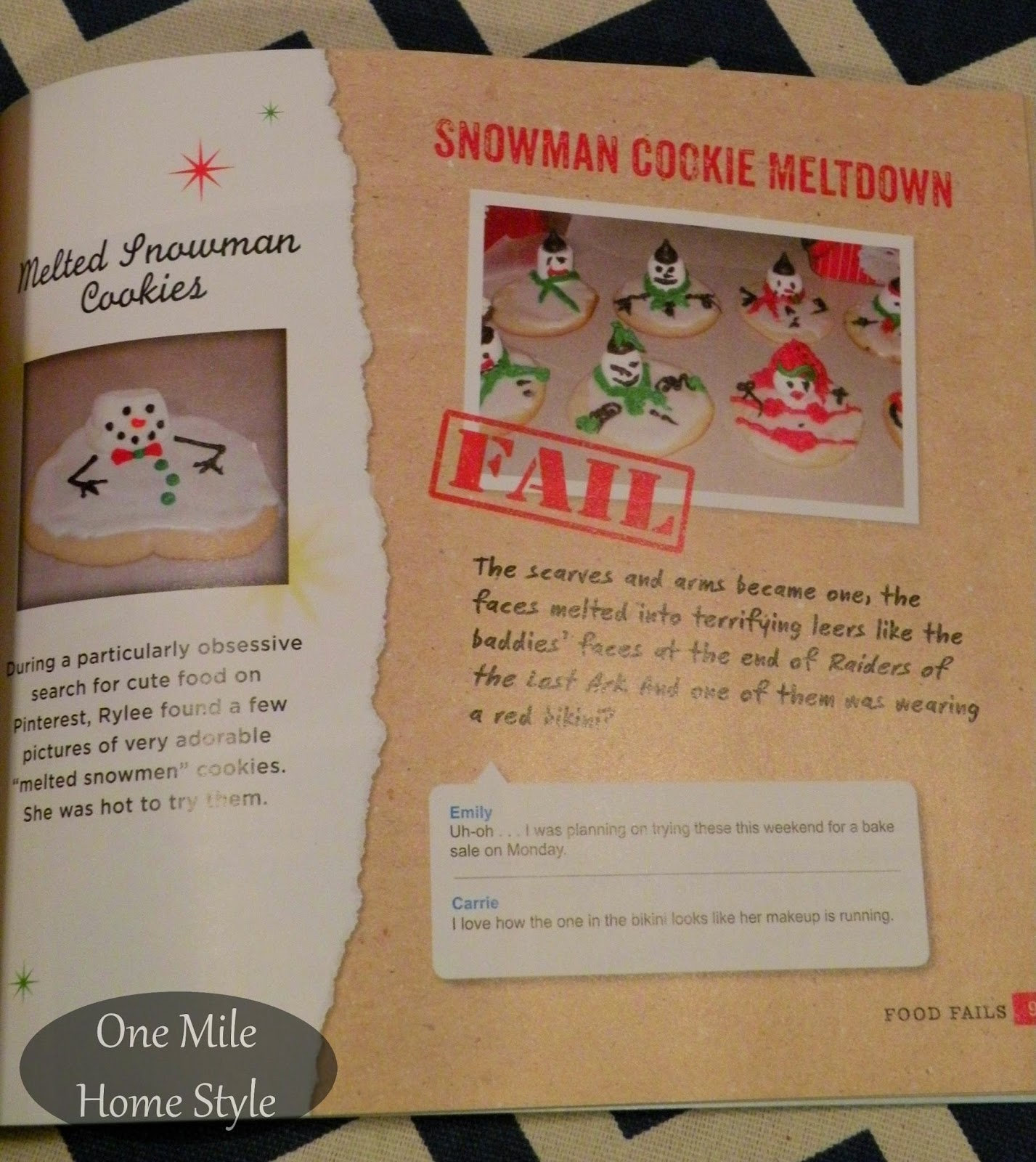 CraftFail - Book Review: Melted Snowman Cookies