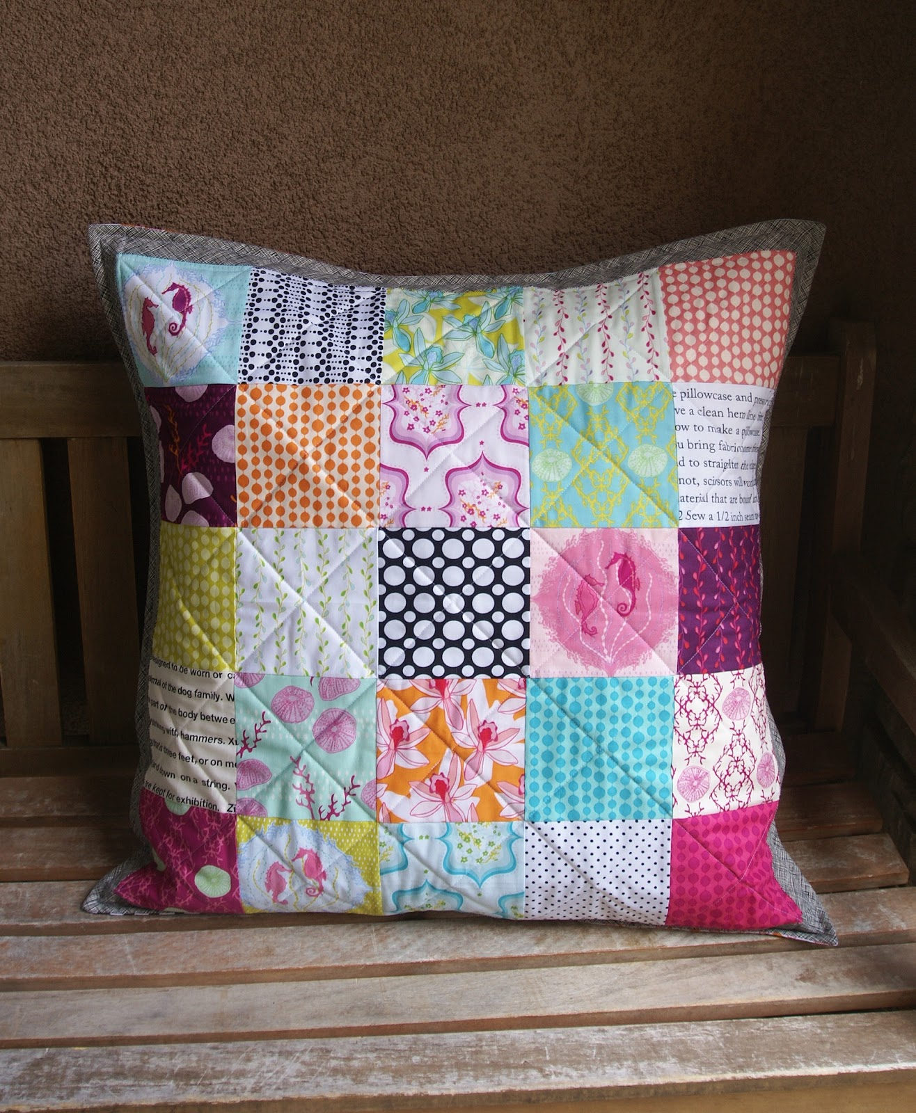 Floor Pillows Joannes : Fabric Mutt: Lagoon Floor Pillow