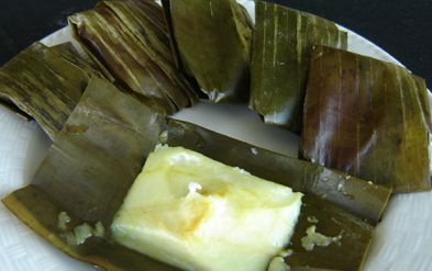 Kue Tradisional : Nagasari Roti Tawar Cobek Lombok Ijo
