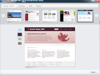 Auf dem Bild sind die verschiedenen Designvorlagen des Desktop CMS Zeta Producer zu sehen