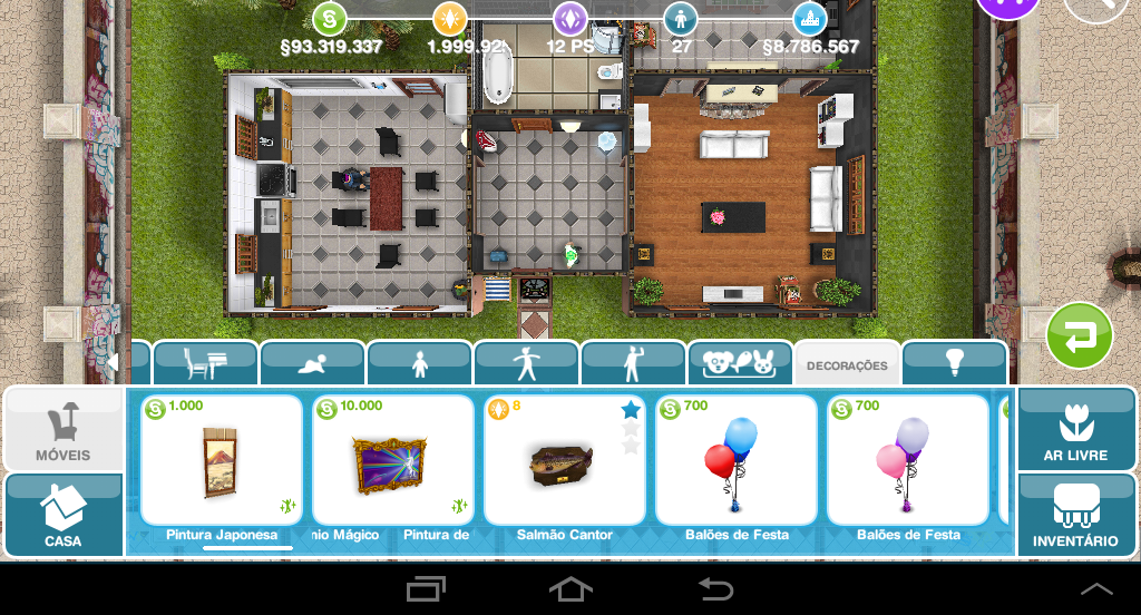 The sims freeplay salm o cantor for Casa de diseno the sims freeplay