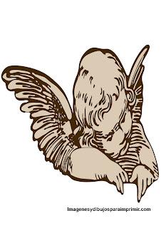 Angel clásico para imprimir