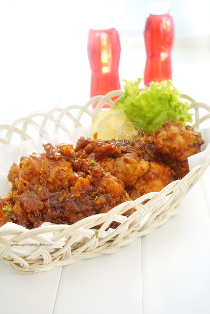 Crispy Chicken in Hot Sauce  (Memasak dengan LOCK&LOCK Hard&Light)