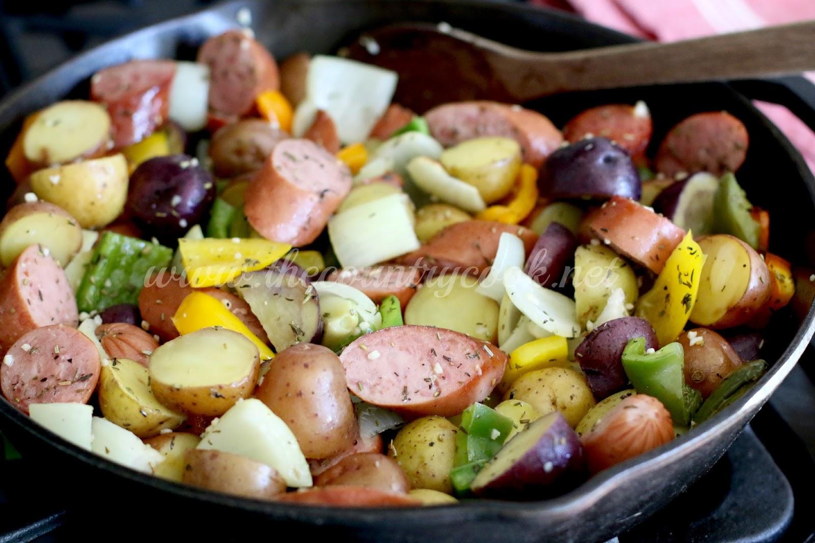 One Pan Little Potato & Sausage Bake