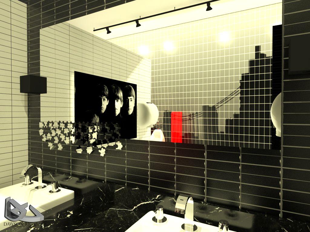 Design de Inteiores e Produto: Banheiro (boate) #CA0A01 1024 768