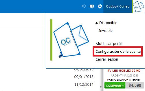Configuración de la Cuenta Outlook