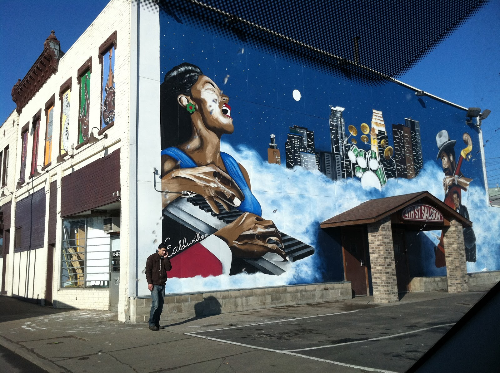 Mural by c caldwell charles caldwell minneapolis artist for Ecole d art mural