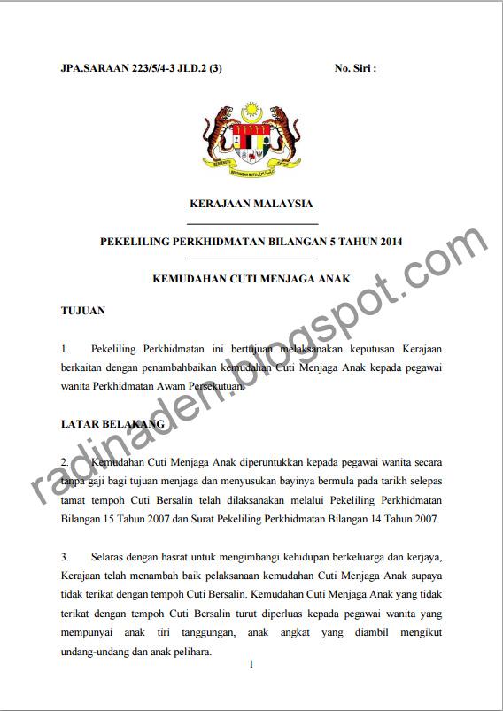 Contoh Surat Rasmi Cuti Bersalin Rasmi B Cute766