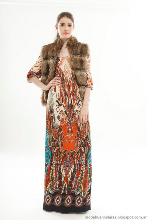 Vestidos largos estampados invierno 2013