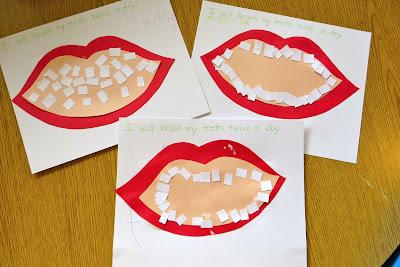 Ms sara 39 s preschool blog dental week gluing teeth for Mouth template for preschool