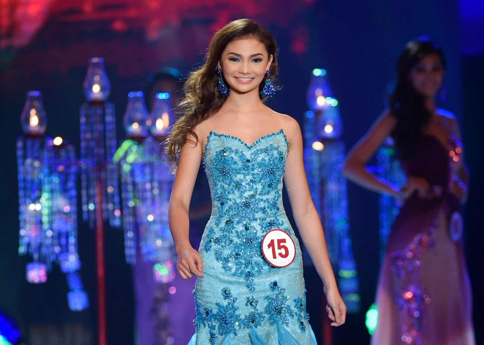 SASHES AND TIARAS.....Miss World Philippines 2014 Evening Gown ...
