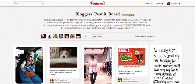 Pinterest Bloggers board