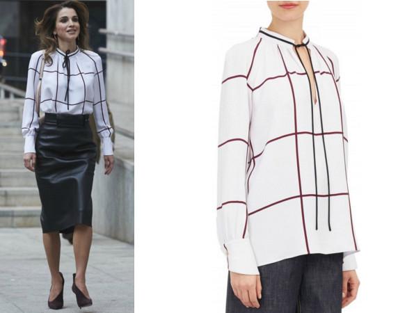 Queen Rania's Derek Lam blouse