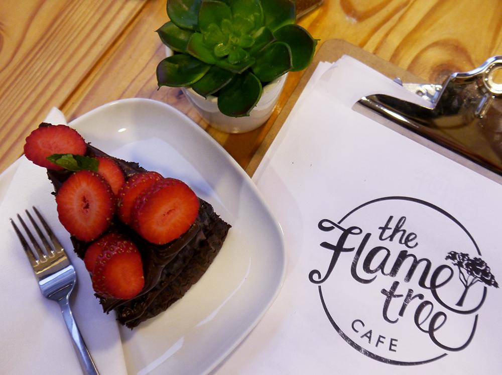 chocolate cake, slice of cake, Dundee cafe