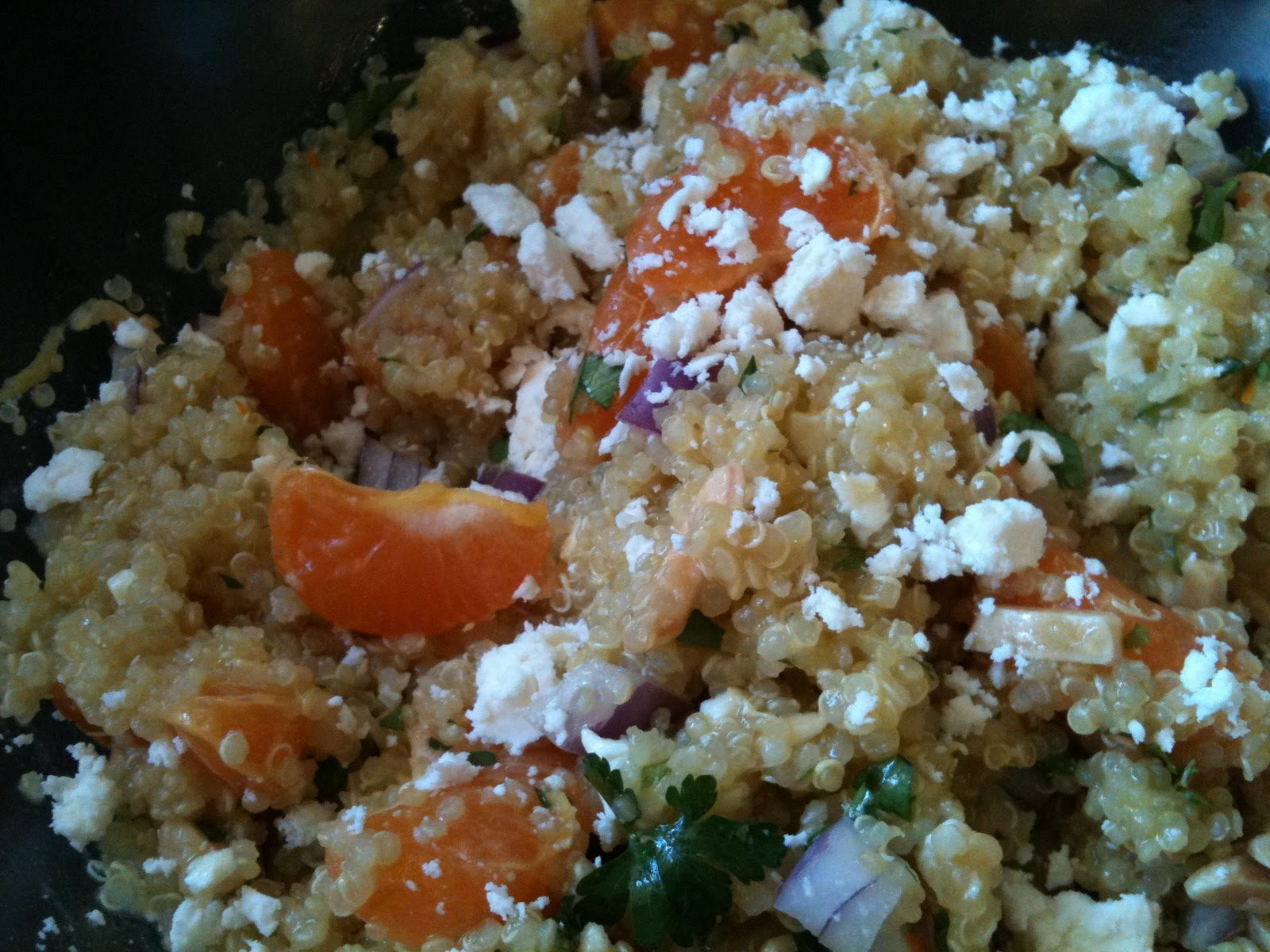 Feta Mandarin Asian Quinoa Salad Recipe — Dishmaps