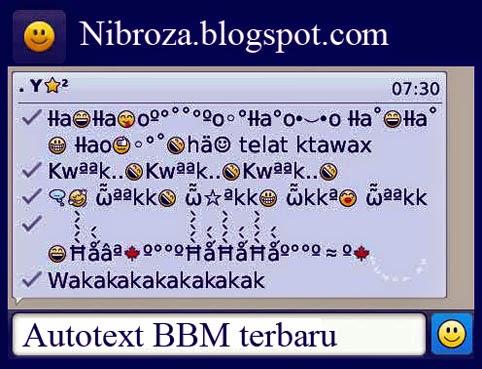 Autotext BBM Blackberry