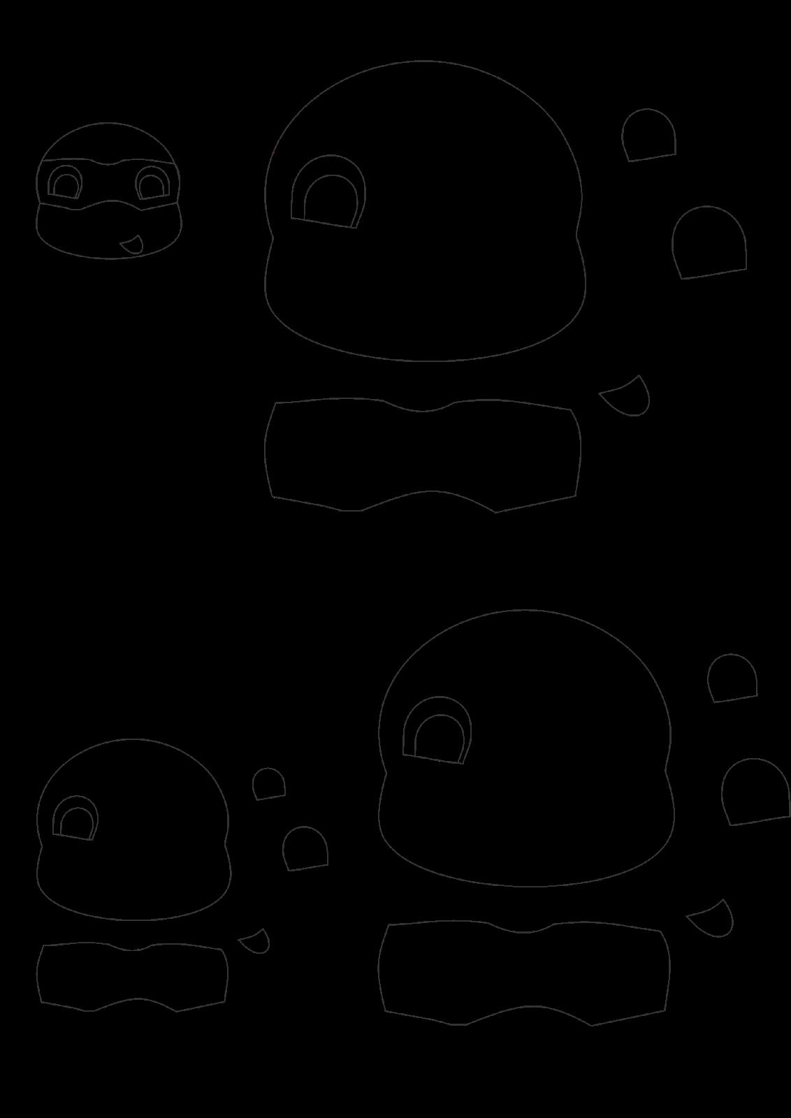 Ponteira Lápis Tartarugas Ninja com Molde Fácil de Fazer