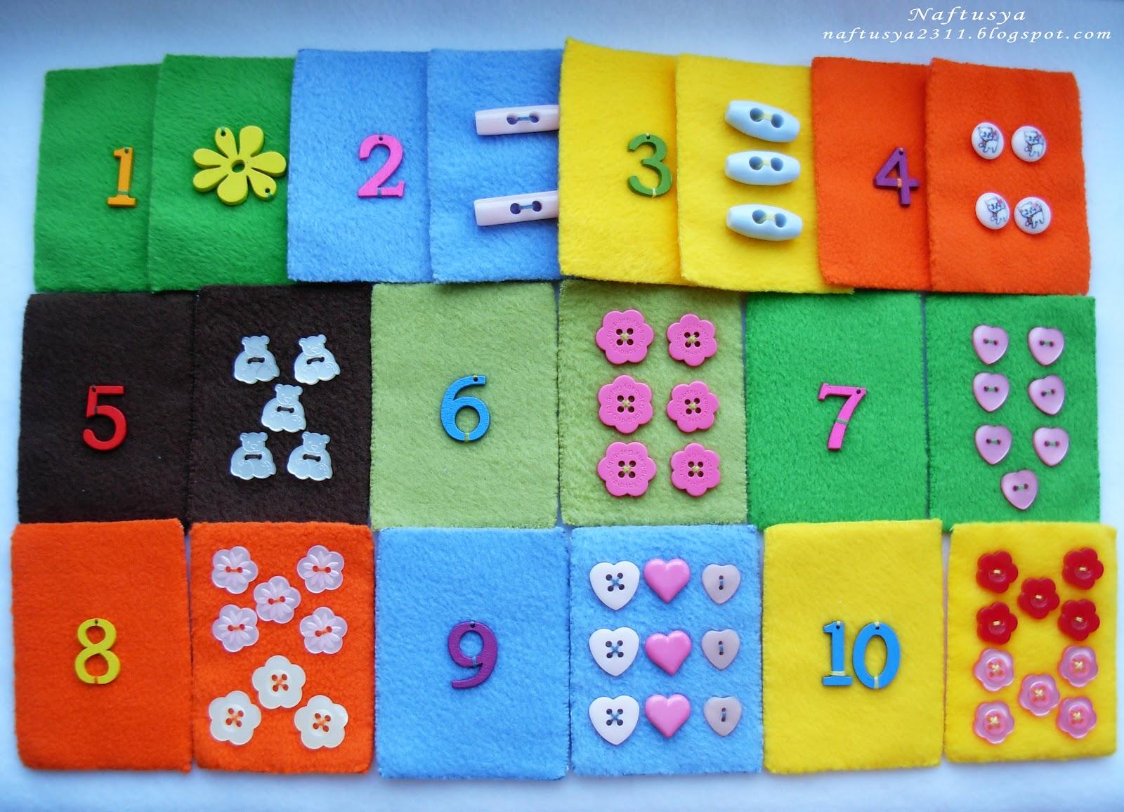Цифры своими руками для малышей