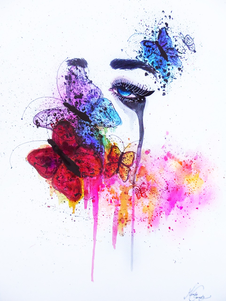 16-Andrea-Wéber-aka-Mandy-Candy-Paintings-A-Mirror-to-the-Artist-s-Emotions-www-designstack-co