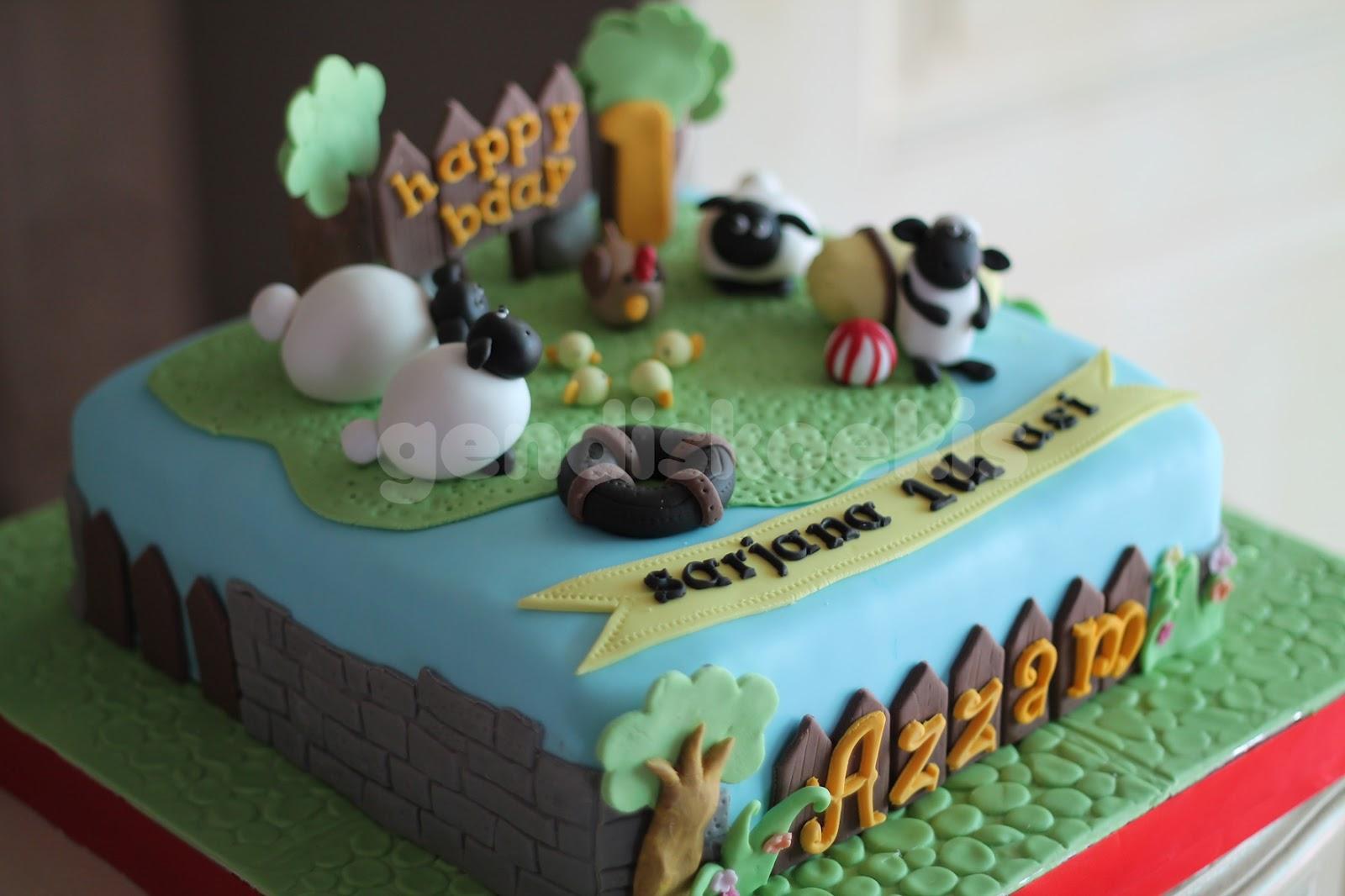 Gendiskoekis Shaun The Sheep Bday Cake