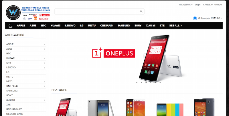 A screenshot from WorthIT.my , where you can purchase cheap phones online
