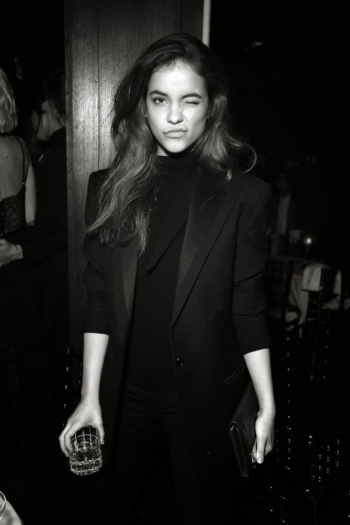 Barbara Palvin all black