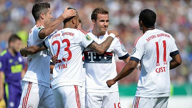 Pela DFB-Pokal, Bayern vence o Nottingen e avança de fase.