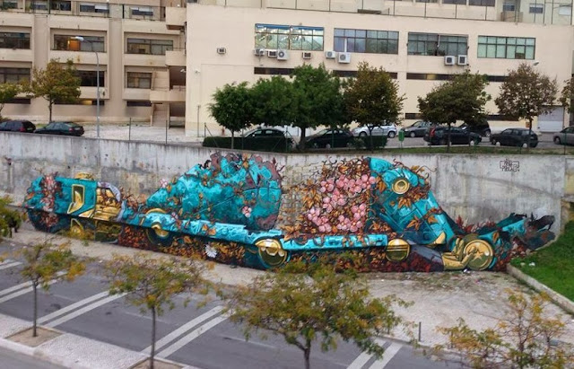 Street Art Mural By Pixel Pancho For Underdogs On The Streets Of Lisbon, Portugal. 2