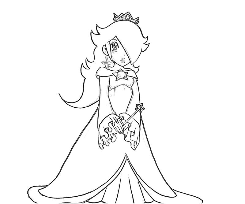 Free coloring pages of rosalina - 39.5KB