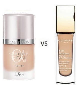dior capture totale serum de teint vs clarins skin illusion natural radiance battle of the. Black Bedroom Furniture Sets. Home Design Ideas
