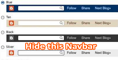 Hide Navbar from blogger shinemat.com saimoom
