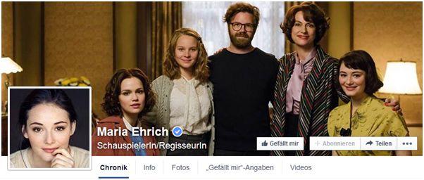Besucht Maria auf Facebook!