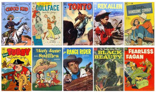 Four Color Dell, 1942 Series Number of Issues Published: 1331 (#1-Little Joe - #1354-Calvin...)