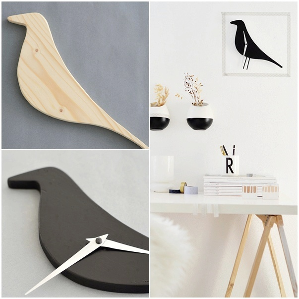 nachmachtipp eames bird clock sinnenrausch diy und interior blog. Black Bedroom Furniture Sets. Home Design Ideas